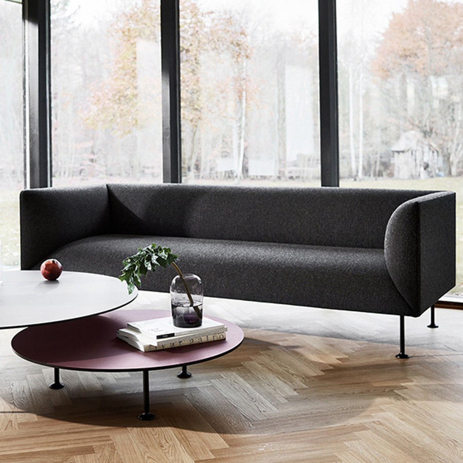 Godot is a comfortable and generous sofa series comprising 2- and 3-seater sofas