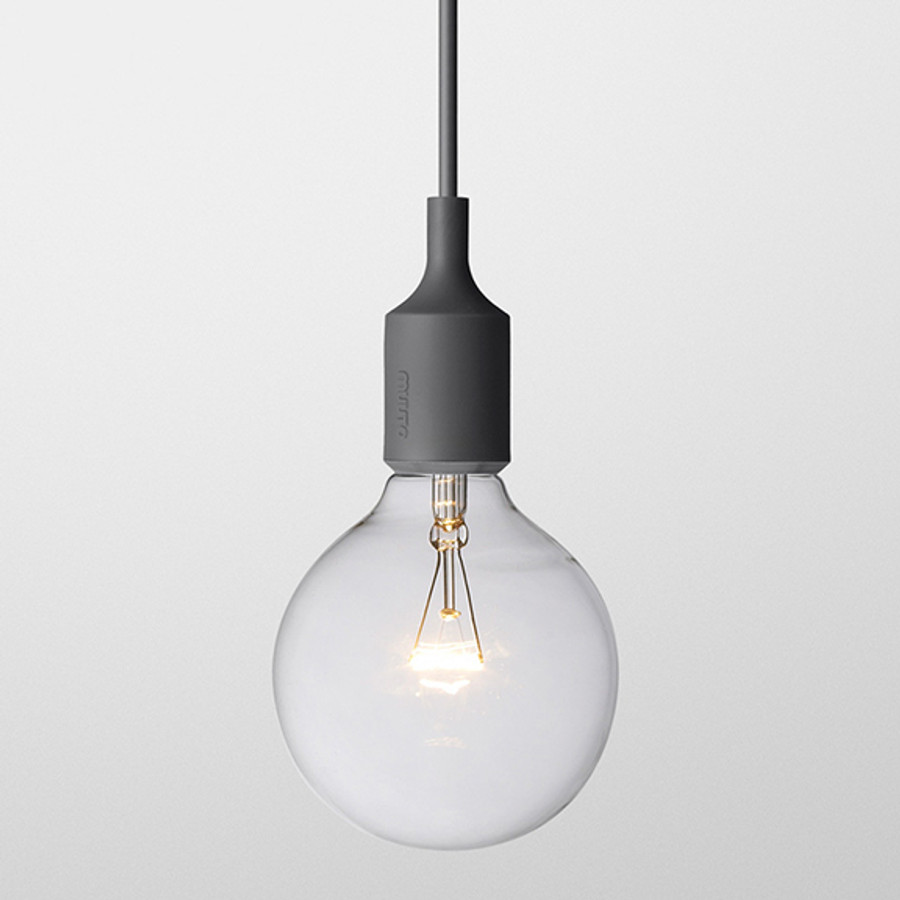 E27 lamp by Muuto is constructed of silicone rubber