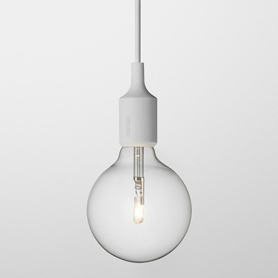 Muuto E27 pendant lamp in light grey