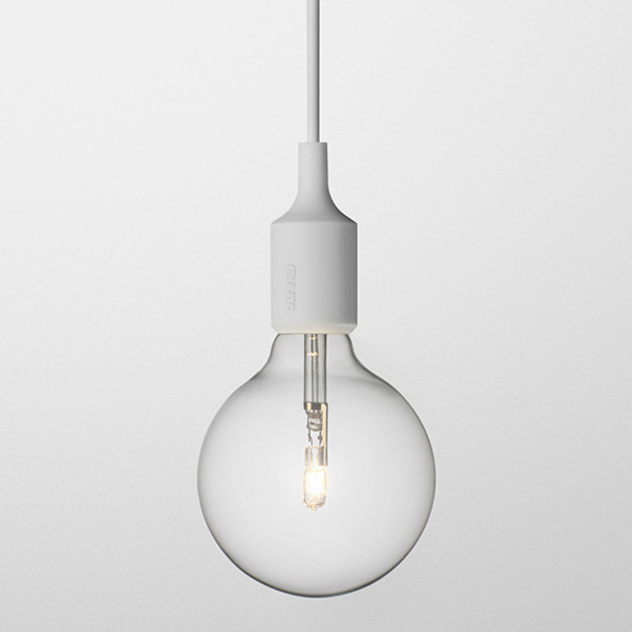 Muuto E27 pendant lamp in light grey