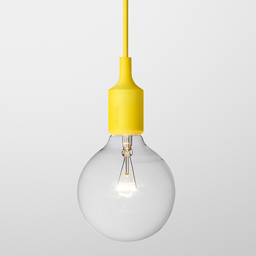 Muuto E27 pendant lamp in yellow