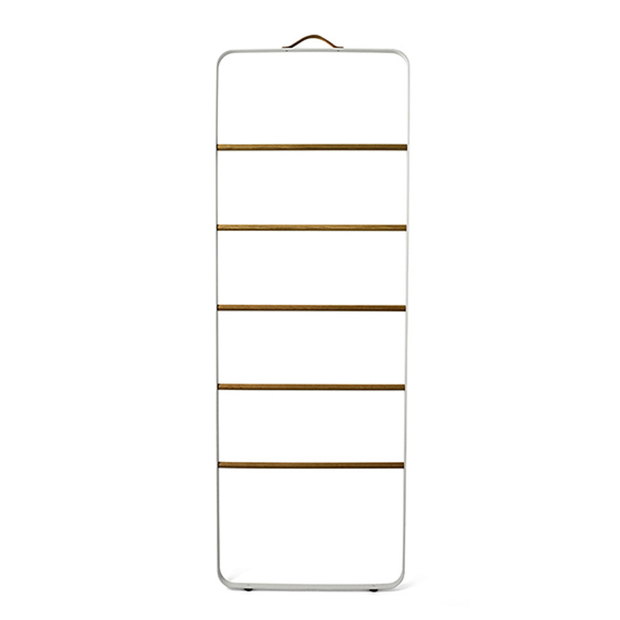 Menu Towel Ladder in White/Light Ash