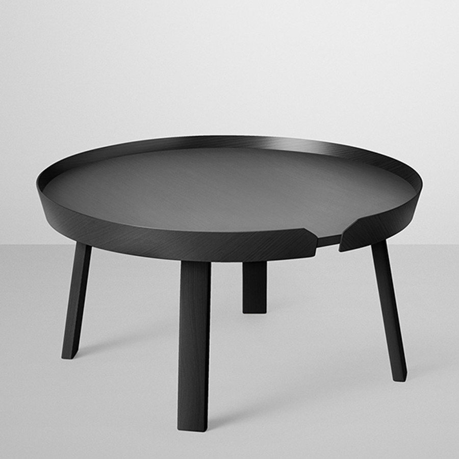 Around coffee table in black