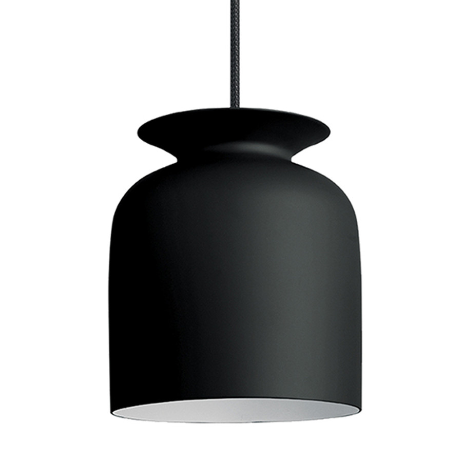 Gubi Ronde Pendant Small in Charcoal Black