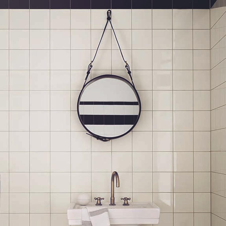 Gubi Adnet Circulaire mirror shown in bathroom