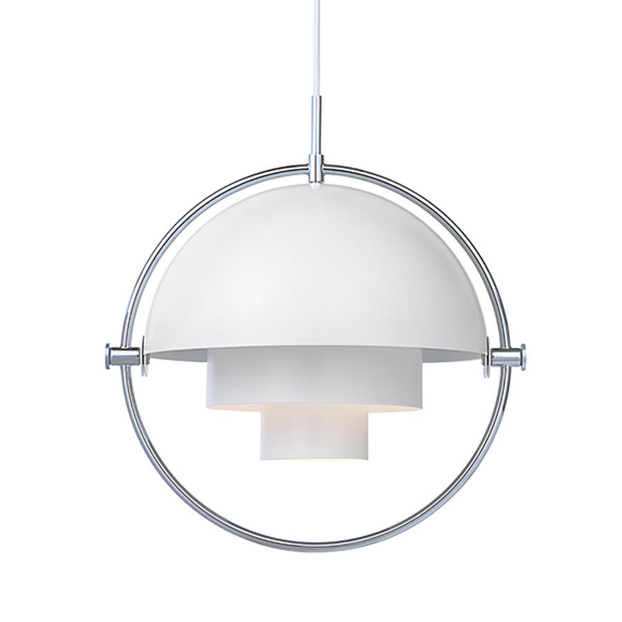 Gubi Multi Lite Pendant in white/chrome