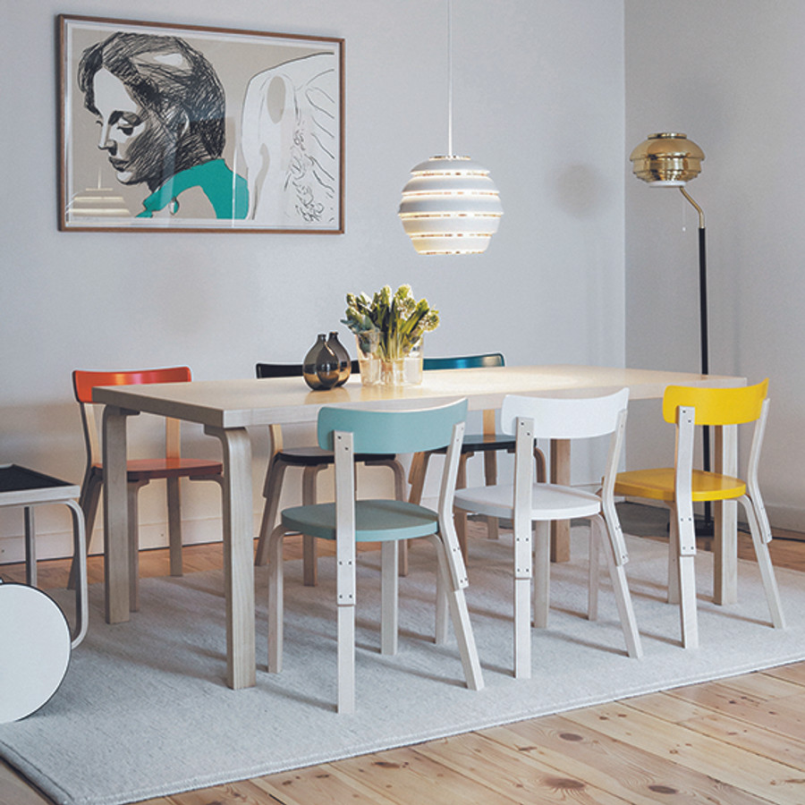 The Chair 69 is available in 8 finishes which look wonderful together