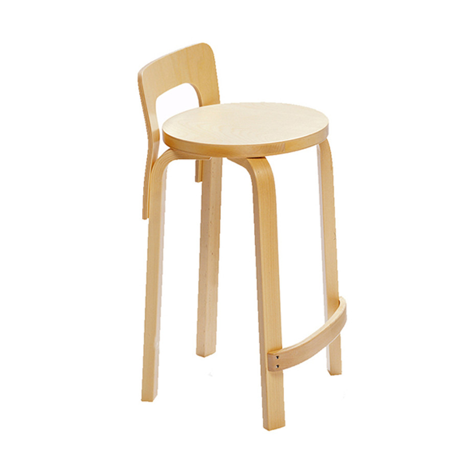 Artek High Chair K65 in Birch veneer seat / birch legs
