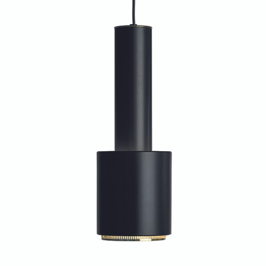 Artek Hand Grenade Pendant in Black shade / Black polished brass ring