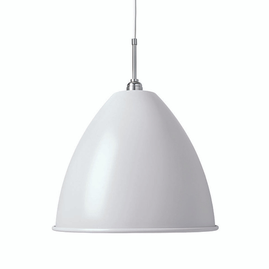 Gubi Bestlite Pendant BL9L in Matt White/Chrome