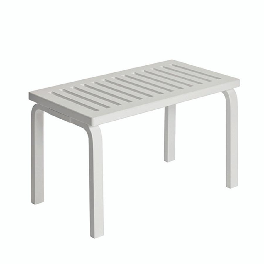 Artek Bench 153B in white lacquered