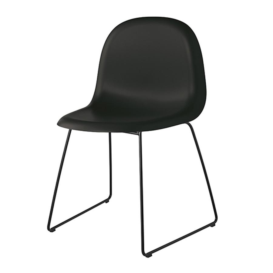 Gubi 3D Chair Sled Base in black seat / black base