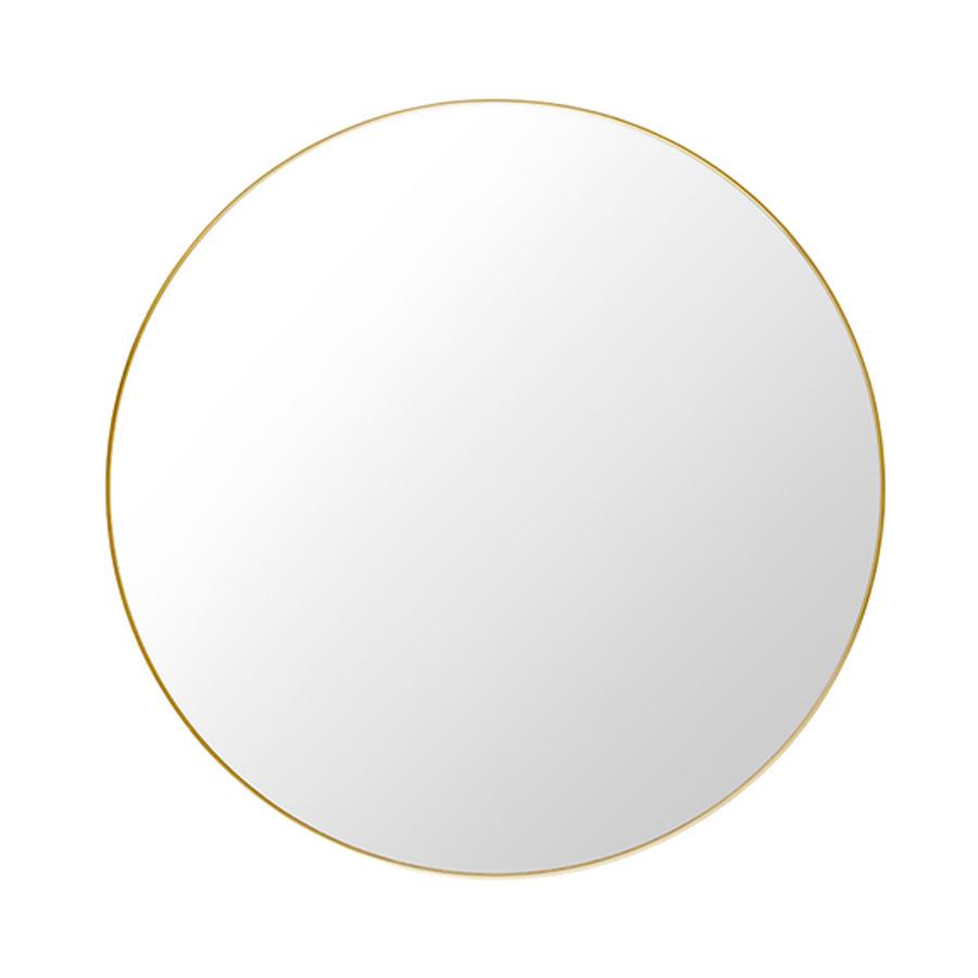 Gubi Round Wall Mirror in brass