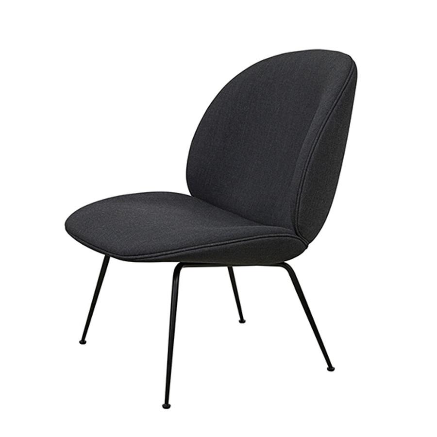 Gubi Beetle Lounge Upholstered in Remix 183 seat/black base
