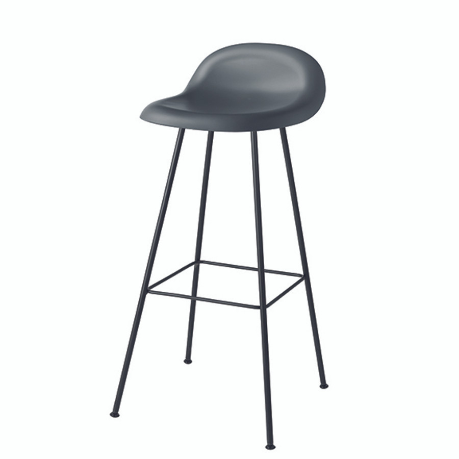 Gubi 3F Bar Stool in midnight grey