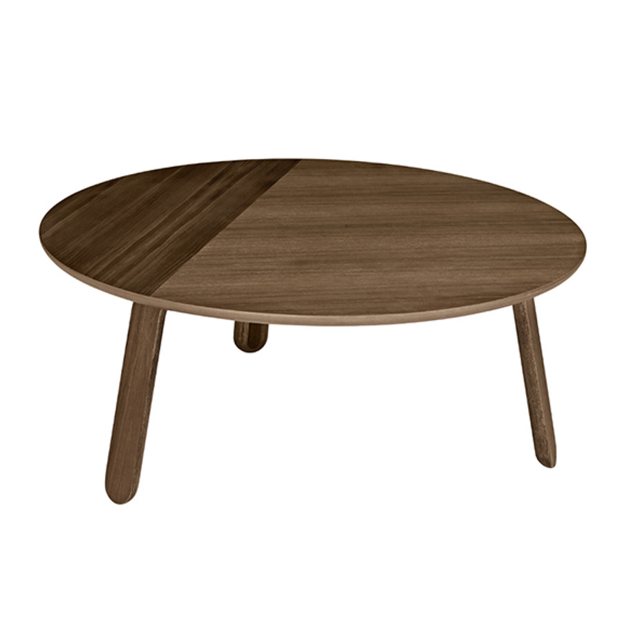 Gubi Paper Table Large in Walnut