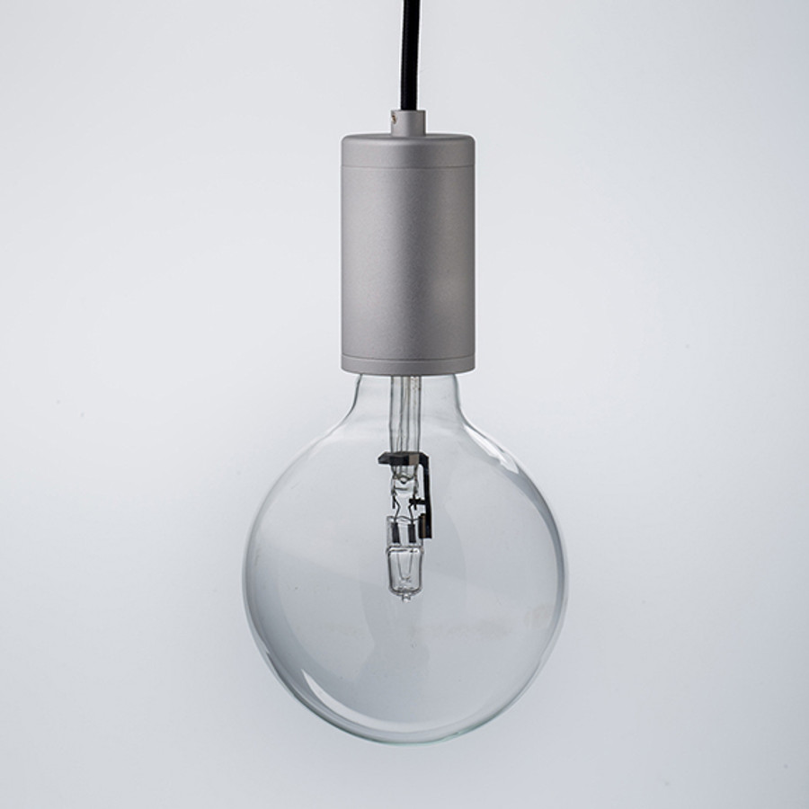 Pure Pendant Brushed Aluminium with Black Cord