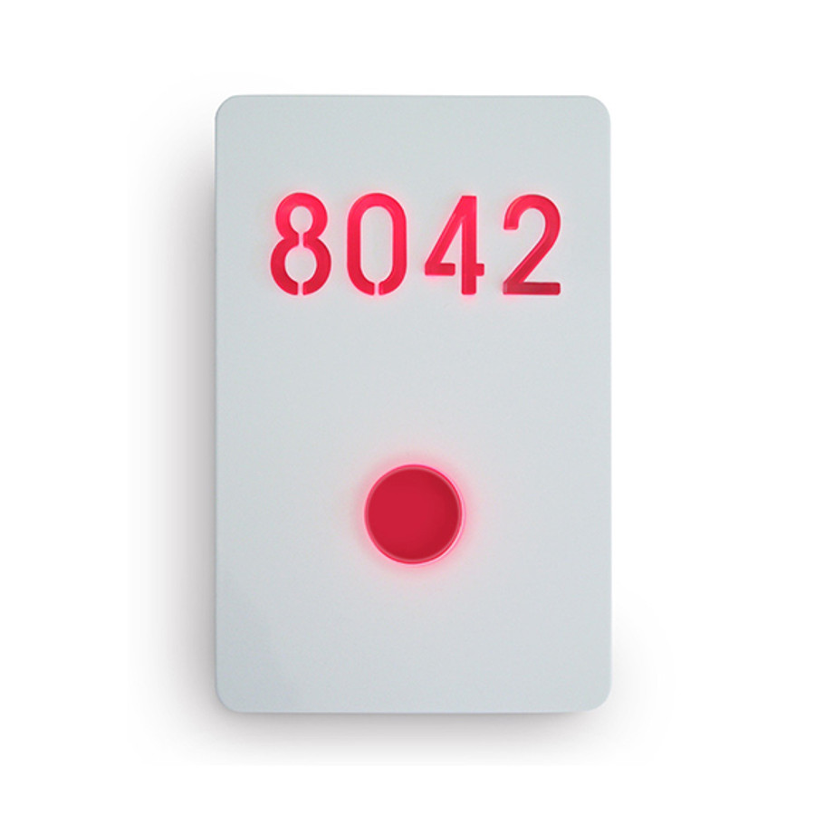 Illuminated Number Sign White