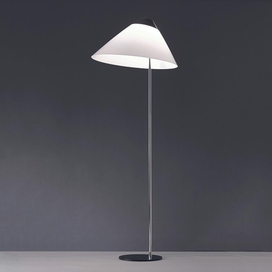 Hans J. Wegner, Opala Floor Lamp in black/chrome