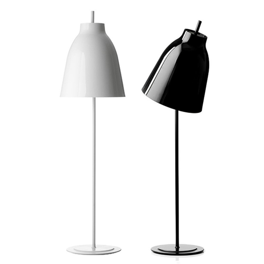 Drawn steel in black or white glossy lacquer