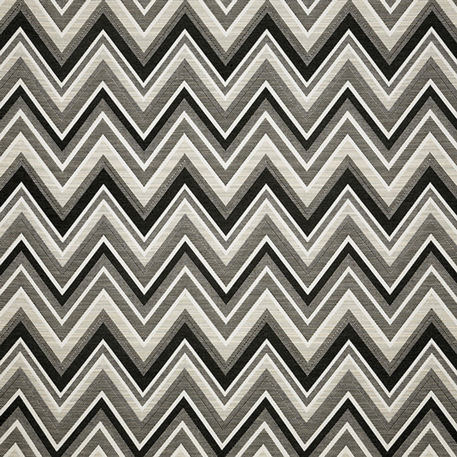 The Sunbrella Fischer Greyscale fabric offers a perfect combination of black and white with grey accents.