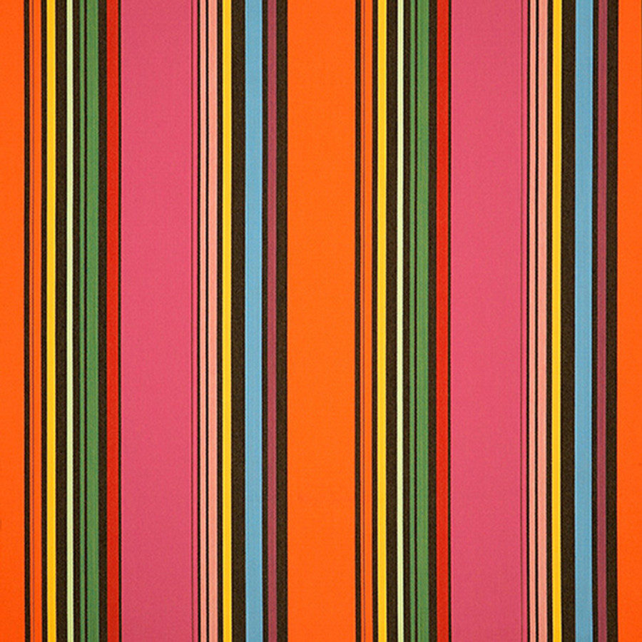 The Sunbrella Icon 80s fabric offers an ideal mix of pink and orange/rust with black accents