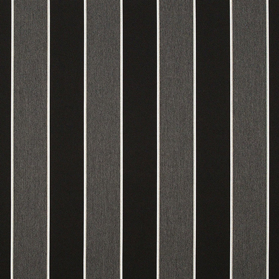 The Sunbrella Peyton Iron Bars fabric offers an excellent mixture of black and grey with white accents