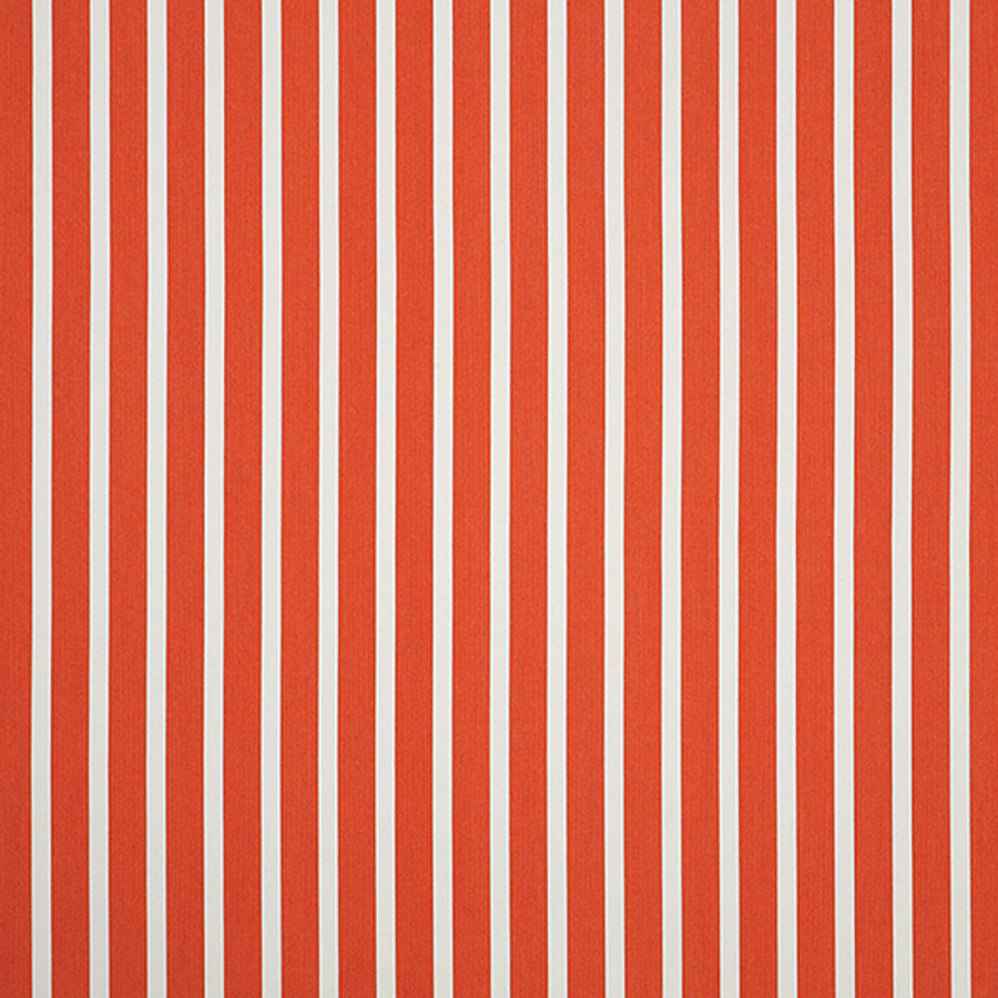 The Sunbrella Shore Blood Orange fabric boasts an ideal mixture of orange and white with red accents