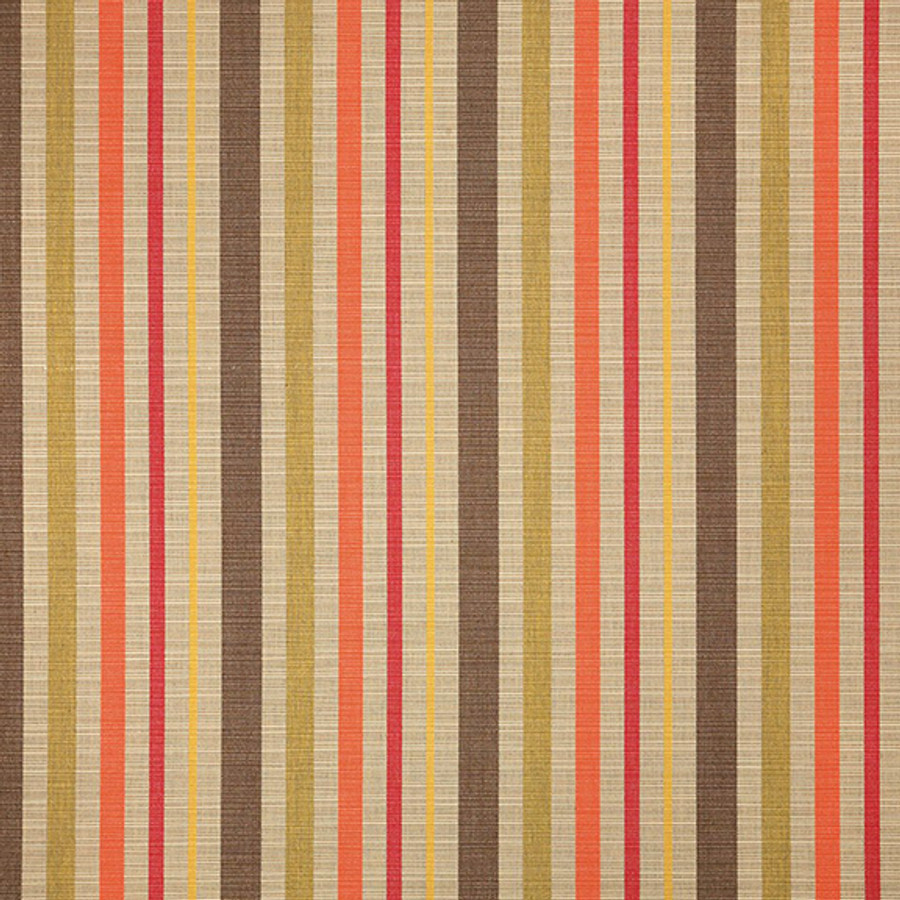 The Sunbrella Solano Strings fabric offers a perfect blend of beige and pink with brown accents