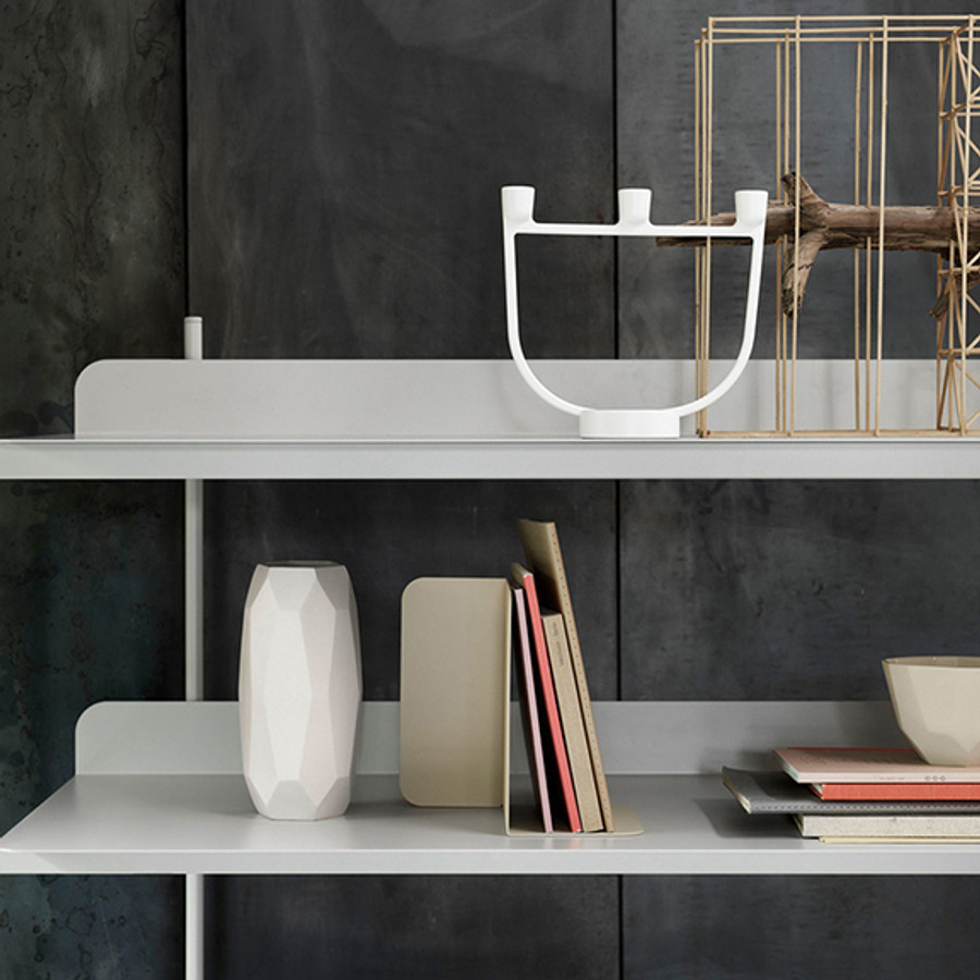 A contemporary take on the classic shelving system