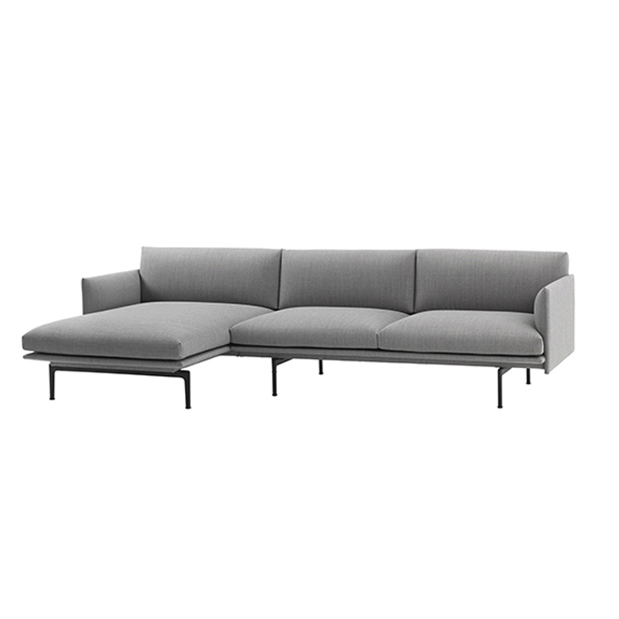 Muuto Outline Chaise Lounge in Fiord 151 - left