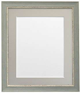FRAMES BY POST Nordic Distressed Blue Photo Frame with Light Grey Mounts