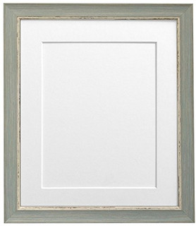 FRAMES BY POST Nordic Distressed Blue Photo Frame with White Mounts