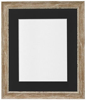 FRAMES BY POST Nordic Distressed Wood Photo Frame with Black Mount