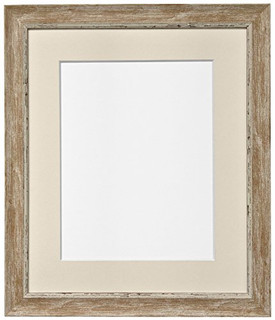 FRAMES BY POST Nordic Distressed Wood Photo Frame with Ivory Mount