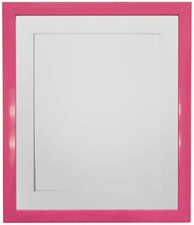 FRAMES BY POST 0.75 Inch Pink Picture Photo Frame With Mounts