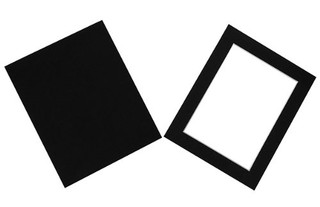 Frames By Post Acid Free Single Black Mount with Backing Board