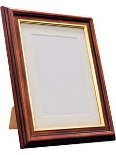 48 Mahogany Frame with Ivory Mount