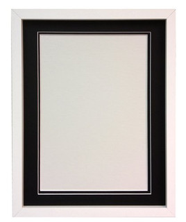 0419GR47B43 | RIO White Photo Picture Frame with Double Mounts