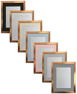 FRAMES BY POST 0.75 Inch Bronze Picture Photo Frame With Mounts