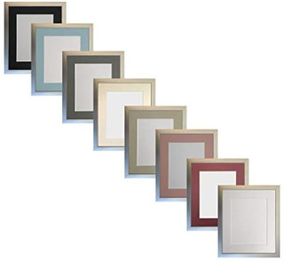 FRAMES BY POST 0.75 Inch Silver Picture Photo Frame With Mounts