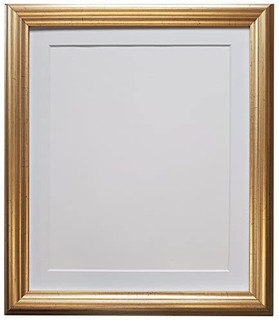 FRAMES BY POST 48 Pale Gold with Black, White, Ivory, Blue, Pink, Light and Dark Grey Mounts