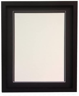 FRAMES BY POST RIO Black Photo Picture Frame with Double Mounts
