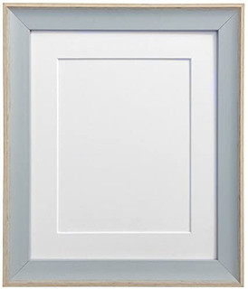 FRAMES BY POST AP-3016 Beach Hut Blue Picture Photo Frame with Black,White,Ivory,Pink or Light Blue Grey Mount