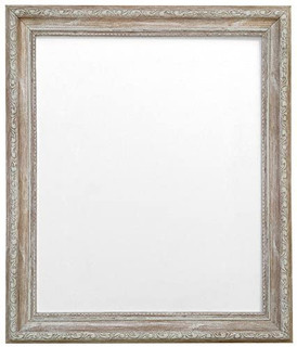 FRAMES BY POST Shabby Chic Distressed Wood Picture Photo Frame With Black,White,Ivory, Pink or Blue Backing Board