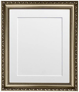 FRAMES BY POST Shabby Chic Gunmetal Picture Photo Frame with Black,White,Ivory, Mounts