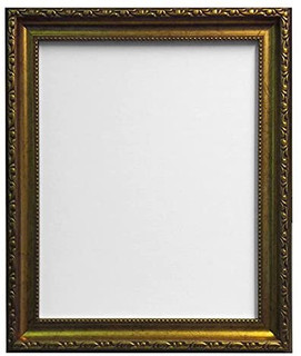 FRAMES BY POST Shabby Chic Gold Picture Photo Frame With Black,White,Ivory, Pink or Blue Backing Board