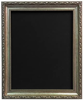 FRAMES BY POST Shabby Chic Silver Picture Picture Photo frame With Black,White,Ivory, Pink or Blue Backing Board