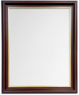 FRAMES BY POST AP-3320 Mahogany Picture Photo Frame With Black,White,Ivory, Pink or Blue Backing Board