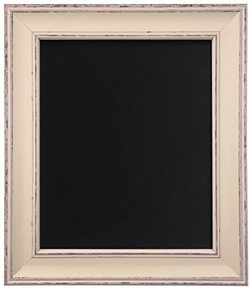 FRAMES BY POST Scandi Distressed Pale Grey Picture Photo Picture Frame With Black,White,Ivory, Pink or Blue Backing Board